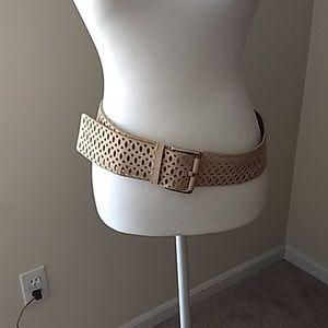 Vince Camuto Wide Leather Belt